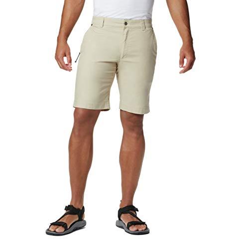 Columbia Flex Roc Short Pantalones Cortos para Senderismo, fósil, 51 ES para Hombre
