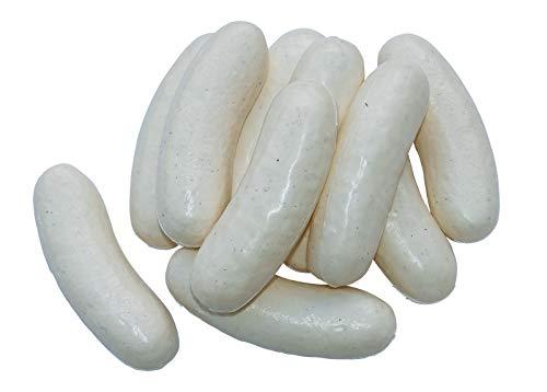 ERRO 10 Weißwurst Attrappen aus Kunststoff - 12399, leichte Hohlattrappen, Nachbildung als Requsite, Lebensmittelattrappen zur Deko, Gastronomiebedarf