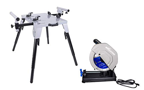 Evolution S355CPSL Heavy Duty Chop Saw with 14 Inch Blade and EVOCS2 Stand