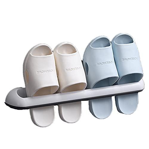 Zapatero Plegable Organizador De Zapatos, Zapatos Unidades Sin Necesidad De Taladrar Ahorro De Espacio El Zapatero Colgante Puede Reemplazar El Gabinete De Zapatos Robusto Y Duradero M 46X3.5Cm Negro