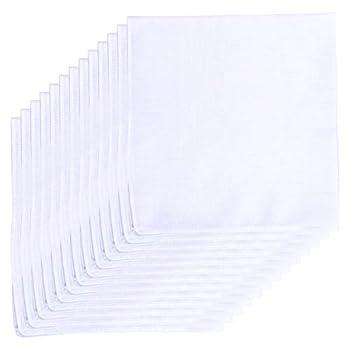 Van Heusen 13 Pack Cotton Handkerchiefs Solid White