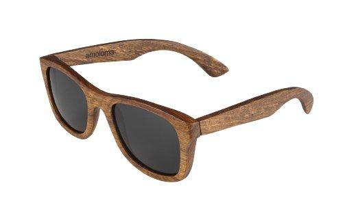 amoloma Holz Sonnenbrille Birnbaum Der Rahmen der Brille besteht aus Birnbaumholz für Damen und Herren
