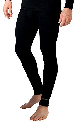 Gwinner Herren Warmline Thermo-Funktionsunterwäsche Lange Unterhose Top IV, schwarz, XL