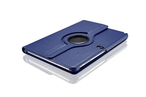 360 Rotating PU Lederhülle für Samsung Galaxy Note 10.1 2014 Edition mit Standfunktion SM-P600 SM-P601 Tablet-Hülle-Blau