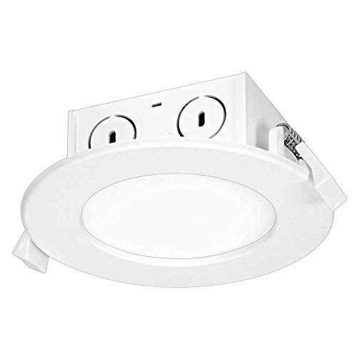 Satco S29055 LED-Einbauleuchte, 8,5 W, Kantenbeleuchtung, 10,2 cm, 2700 K, 120 V, dimmbar
