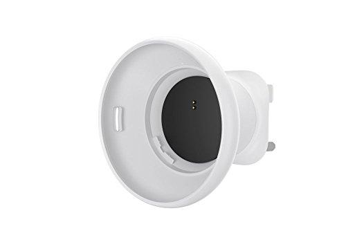 Logitech Circle 2 Steckhalterung, Für Britische Wandsteckdosen, Kompatibel mit kabellosen und kabelgebundenen Circle 2 Überwachungskameras Britischer 3-Pin Stecker - weiß/schwarz