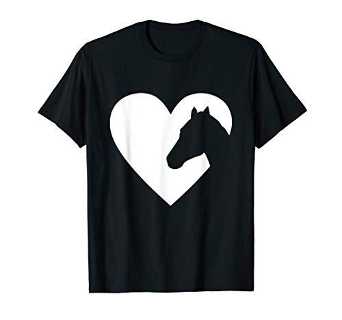 Pferd Silhouette Herz Liebe T-Shirt