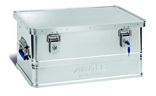 ALUTEC MÜNCHEN 2011048 Aluminiumbox Classic mit Zylinderschloss 580 x 380 x 275 mm, Silber