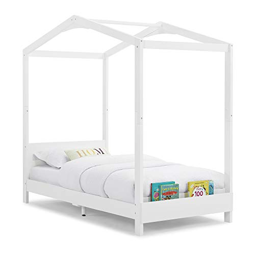 Delta Children Poppy House Twin Bed, Bianca White