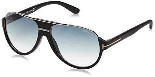 Tom Ford Herren FT0334 02W 59 Sonnenbrille, Schwarz (Nero Opaco/Blu Grad)