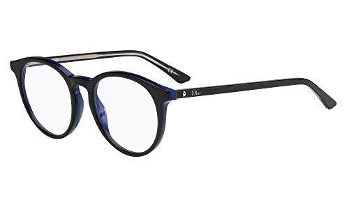 Dior Brillen Für Frau MONTAIGNE15 MVL, Black / Blue Kunststoffgestell
