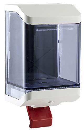 Mar Plast dispensador jabón líquido de plástico A llenado LT.1,20A Palanca Blanco/Transparente