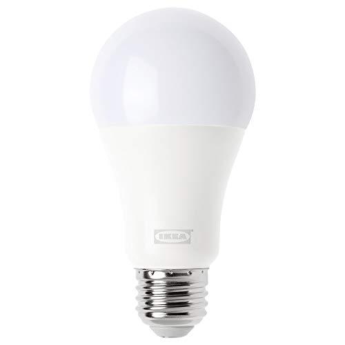 Trådfri ampoule LED E261000lm, sans fil à intensité variable, Blanc chaud Globe Opale
