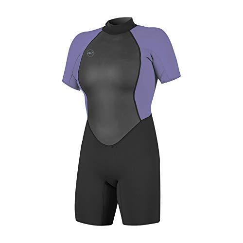 O'Neill Damen Reactor II 2mm Back Zip Spring Wetsuit Neoprenanzug, Black/Mist, 12