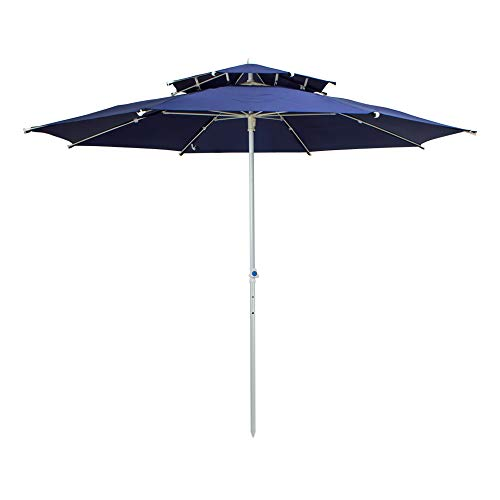 Aktive 53848 - Sombrilla octogonal 280 cm Garden - Tubo de metal 28-32 mm