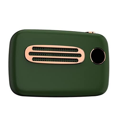 Altavoz Bluetooth, Altavoz Estéreo Portátil, Potente Efecto De Triple Bajo, Tiempo De Reproducción A Prueba De Agua 24 Horas con Alimentación Móvil Y Manos Libres (Color : Green)