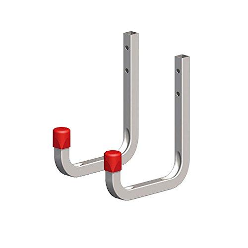 2 x SECOTEC® Universalhaken verzinkt 80 x 120 mm Belastbarkeit 45 kg Garagenhaken Werstatthaken