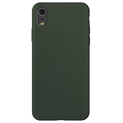 ZhinkArts Custodia in silicone compatibile con Apple iPhone XR – display da 6,1 pollici, custodia in silicone con fodera interna in microfibra, colore: verde cipriota