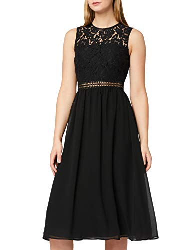Amazon-Marke: TRUTH & Fable Damen brautkleid, Schwarz (Black), 42, Label:XL