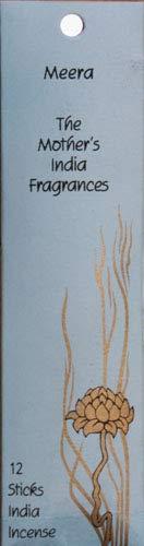 The Mother' s India Fragrances Meera laminati fiera mano bastoncini di incenso 12mini Joss–Durata: 30–45minuti