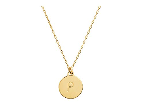 Kate Spade New York P Mini Pendant Necklace Gold One Size