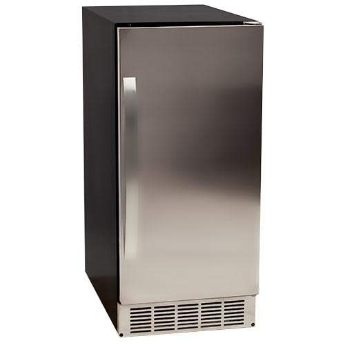 EdgeStar IB450SSP 50 lb. 15 Inch Wide Undercounter Clear Ice Maker with Drain Pump