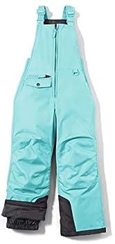 TSLA Kids & Boys and Girls Winter Snow Bibs Waterproof Insulated Snowboard Overalls Windproof Ripstop Ski Pants Snow Overall kko75  - Mint Large