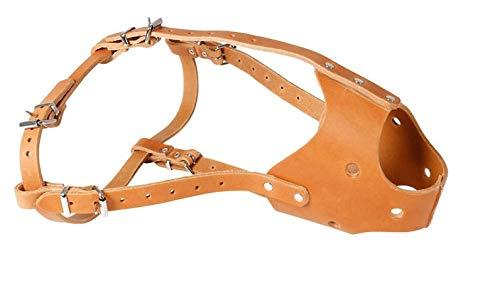 Karlie Maulkorb aus Leder, geschlossen versch. Größen und Farben, Farbe:Hellbraun, Größe:ø 32 cm