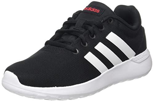 adidas Lite Racer CLN 2.0, Road Running Shoe, Core Black/Cloud White/Scarlet, 32 EU