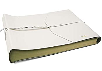 LEATHERKIND Personalised Positano Leather Photo Album White Large Classic Style Pages - Handmade in Italy