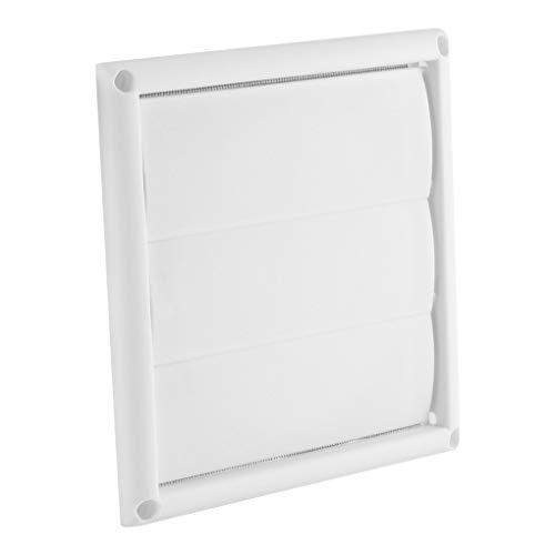 teng hong hui Cap Rejilla de plástico Salida de Aire Rejilla de ventilación de Aire Wall conducto de ventilación de Salida de Aire con 3 Flaps, 6 Pulgadas