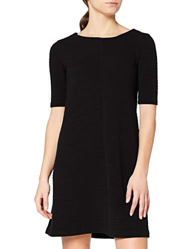 Vila Damen Vicaro A-Shape Jersey Dress-fav Kleid, Schwarz (Black Black), 36 (Herstellergröße: S)