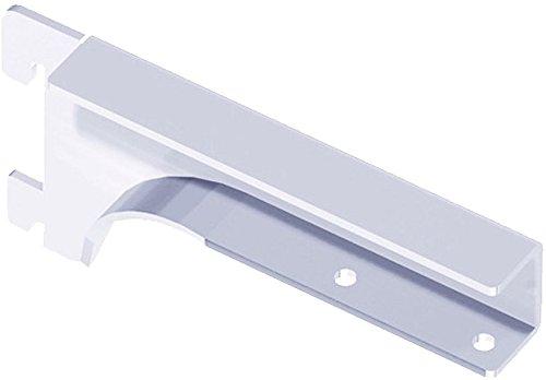 Element System 10504-00007 Holzbodenträger Regalbodenträger / 2 Stück/weiß/für Holzfachböden 19-22 mm/Wandschiene/Regalsystem