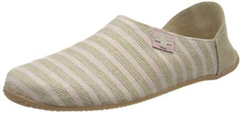 Living Kitzbühel Damen Pantoffel mit Streifen & Kreuz Pantoffeln, Rosewater, 39 EU