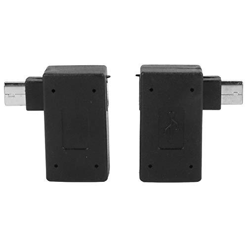 Ctzrzyt 1 Par (Izquierda + Derecha) 90 Grados Angulo -USB 2.0 A OTG Host Adaptador con Conector De Alimentacion USB para Tableta Telefono Movil