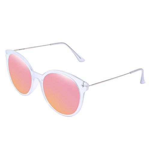 Gafas de sol Rose Gold Caja Redonda Unisex TAC Anti Glare Anti-UV Polarizado Gafas de Sol