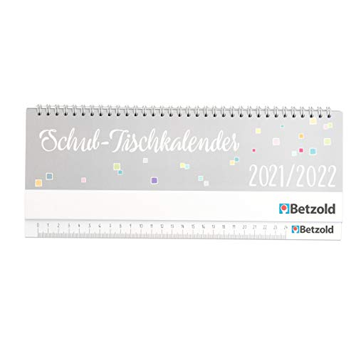 Betzold 758601 - Tischkalender Schule 2021/2022 Quer-Kalender Lehrer-Kalender Planer
