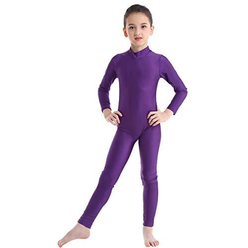 Agoky Maillot de Danza Ballet Manga Larga para Niña Chica Elástico Leotardo...