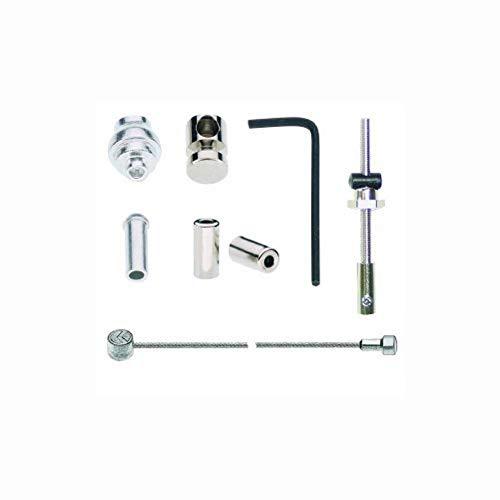 Point Trommelbremszug - Doppelnippel - Stahl, galvanisch verzinkt - Anwendung: universal, auch Gazelle, Silber, 1600/1800 mm, 30110401