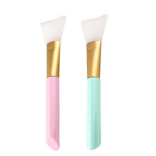 2 PièCes De Maquillage De Beauté FéMinine Fond De Teint Blender Brosse à Silicone Souple