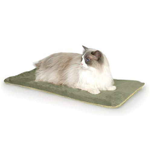 K&H Pet Products Thermo-Kitty Mat Heated Pet Bed Sage 12.5 X 25 Inches