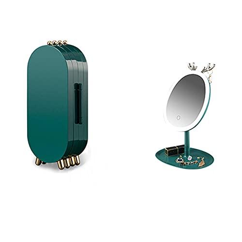 Recet Joyero para joyas, caja organizadora para collares, pendientes, soporte para joyas (un juego)