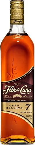 2. Flor de Caña 7 años – Ron para mojito de 700 ml con 40% de alcohol