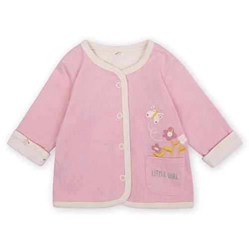 Sigikid Baby-Mädchen Classic Bio-Baumwolle für Kinder Wendejacke, New Born, Rosa, 56