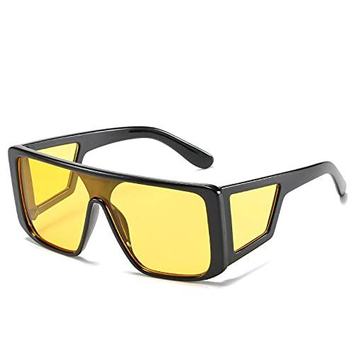 Gosunfly Mujeres Cientos de gafas de sol marcos transfronterizos Gafas de sol protectoras con personalidad: polvo verde en la caja gris