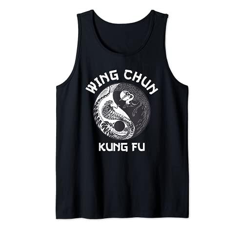 Wing Chun Yin Yang serpente gru Canotta