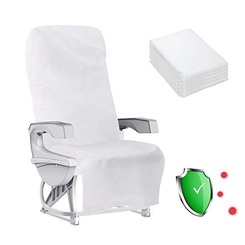 5 Pcs Disposable Airplane Seat Covers Non-woven Safety Protection Portable Seat Cover With Eco Friendly Luggable For Airplane, Train, Bus, Office, Movie Theatre, And Rental Car,easy To Use (5 Pcs)