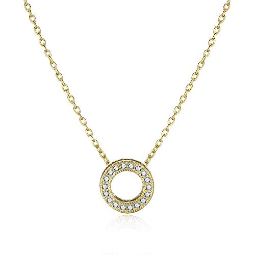 Philip Jones Gold Circle of Life Necklace Created with Austrian Crystals