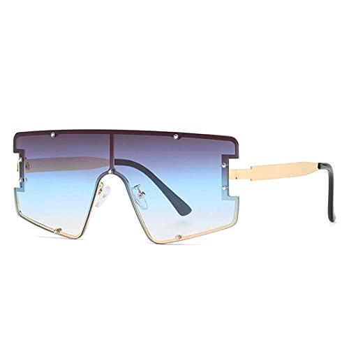 AMFG Hombres y mujeres gafas de sol personalidad Gafas de sol sin marco Trend Gafas de sol Sombrilla de sol a prueba de polvo Decoración de viajes al aire libre (Color : C)