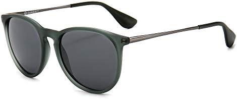 SUNGAIT Vintage Round Sunglasses for Women Men Classic Retro Designer Style Transparent Gray product image
